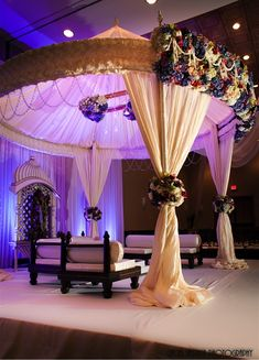Beautiful round canopy mandap