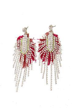 Raw Silk Crystal Earrings