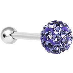 16 Gauge Purple Ferido Crystal Tragus Cartilage Earring 5mm Top #bodycandy #tragus #piercing