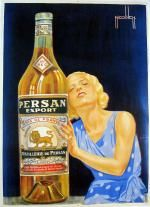Anis Persan Export poster by Nicolitch