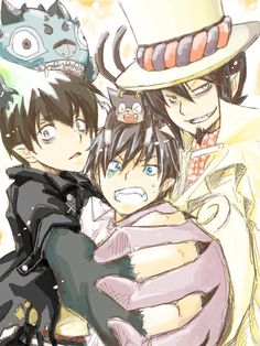 Ao no exorcist An No Exorcist, Blue Exorcist Mephisto, Blue Exorcist Anime, Blue Exorcist Cosplay, Rin Okumura, Anime Guys, Manga Anime, Anime Art, Fandom Games