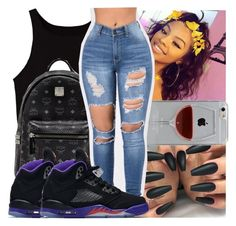 """"""""""" by kodakdej ❤ liked on Polyvore featuring MCM, Reyes and NIKE"""