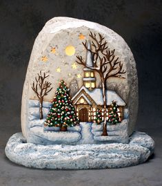 75 Best DIY Christmas Painting Rocks Design https://www.decomagz.com/2017/11/30/75-best-diy-christmas-painting-rocks-design/