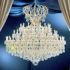 Classic Lighting Maria Thersea 72 Light Crystal Chandelier Finish: Olde World Gold, Crystal Type: Crystalique