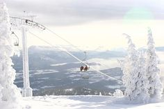 Schweitzer, one of the mountains we would go to to ski and snowboard. :)