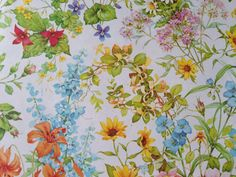 Vintage Wrapping Paper  Bright Summer by TheGOOSEandTheHOUND, $6.00