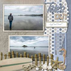 I love this kit by Laura Burger, At the Shore. It so works with my photos from the Island. Fonts: Saginaw and Abandon.
