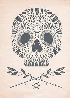 Kelli Murray Leaf Skull//