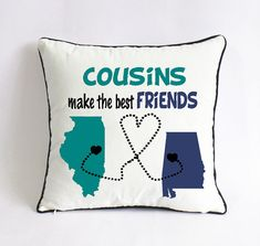 Cousins Make The Best Friends Pillow Case Long Distance Gift Christmas For Little Cousin Birthday From Big