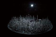 Futuristic City Made from Scrap Metal