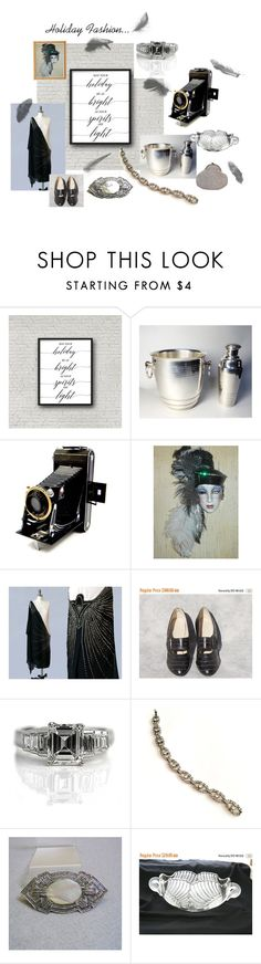"""Holiday Fashion Art Deco Style"" by starshinevintage ❤ liked on Polyvore featuring Nöe and Mikasa"