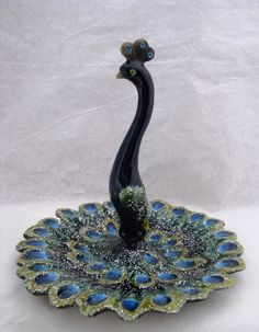 Passiflora Jeweled Peacock Ring Holder