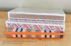 10 Amazing Back To School Washi Tape DIY's - washi tape binder covers - click through to read the rest of the projects