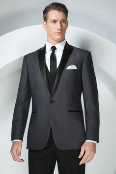 Tony Bowls Grey Portofino Slim Fit Tuxedo from Jim's Formal Wear exclusively available at The Collection - Bridal, Prom, & Tuxedo. Grey Tuxedo, Tuxedo Suit, Tuxedo Jacket, Suit Jacket, Tuxedo Wedding, Wedding Men, Wedding Suits, Wedding Outfits, Men's Clothing
