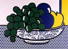 プラムのある静物(1972), オイル バイ Roy Lichtenstein (1923-1997, United States)