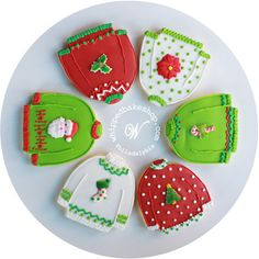 Deluxe Ugly Christmas Sweater Cookie Gift Set (Vanilla) 12 Cookies - MADE TO ORDER