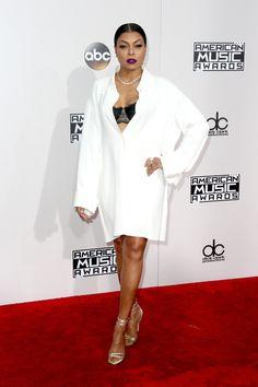 Taraji P. Henson attends the 2016 American Music Awards at Microsoft Theater on November 20, 2016 in Los Angeles, California.
