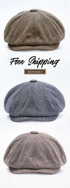 0f725138bbd5f New Fashion-Men Middle-aged Cotton Newsboy Hunting Hat Solid Warm Beret Caps  Short