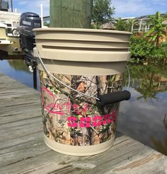 5 Gallon Camo Bucket from Country Shore Outfitters