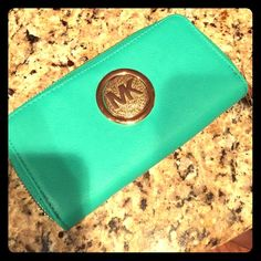 Michael Kors Wallet Teal Michael Kors Wallet, Brand New! Never been used Michael Kors Bags Wallets