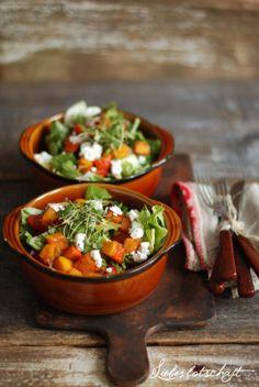 Liebesbotschaft: Herbstlicher Kürbis-Salat + DIY-Deko + Gewinner