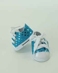 Sequin Sneakers, 6 Colors - shoes for American Girl® and other 18 inch dolls