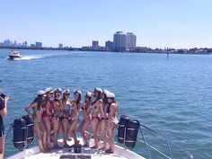 Miami Bachelorette Party on a Private yacht charter. #MiamiBachelorette #PrivateYachtCharter #MiamiFun