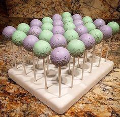 Mint & Lavender Cake Pops. Good idea for bridal shower