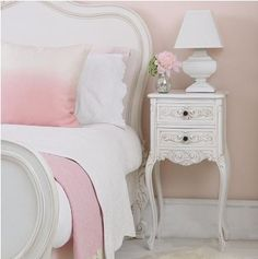 Squat Shabby Chic Lamp (Image by The French Bedroom Company Shabby Chic Bedrooms, Bedroom Vintage, Shabby Chic Homes, Shabby Chic Decor, White Bedrooms, Shabby Chic Nightstand, Shabby Chic Furniture, Decoration Tumblr, Shabby Chic Zimmer