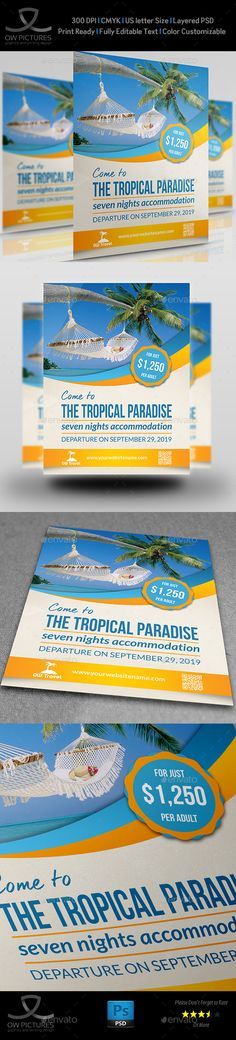 Tour and Travel Flyer Template PSD. Download here: http://graphicriver.net/item/tour-and-travel-flyer-template/15625153?ref=ksioks