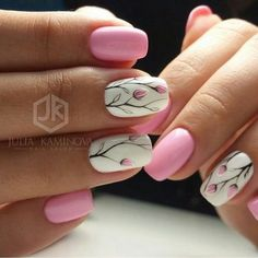 Nail art is a very popular trend these days and every woman you meet seems to have beautiful nails. It used to be that women would just go get a manicure or pedicure to get their nails trimmed and shaped with just a few coats of plain nail polish. Cute Spring Nails, Spring Nail Art, Nail Designs Spring, Cute Nail Designs, Summer Nails, Diy Nails, Cute Nails, Pretty Nails, Pedicure Nails