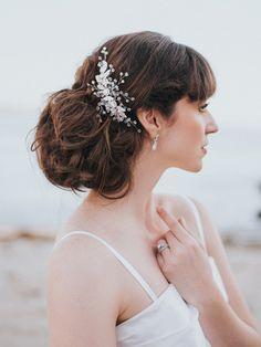 Charlize Large Rhinestone Flower Hair Comb