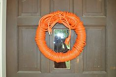 Team Smith: Can You Dig It? Wreath made of extension cord for construction party. Under Construction Theme, Construction Birthday Parties, 3rd Birthday Parties, Birthday Fun, Birthday Ideas, Birthday Banners, 1st Birthdays, Birthday Invitations, Honey Do Shower
