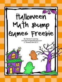 Halloween Math Bump Games one is a Halloween addition game and the other is a Halloween subtraction game.