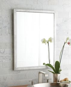 Chrome Framed Bathroom Mirror