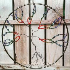 Chakra Tree of by DivineDeanna on Etsy Tree Of Life, Chakra, Dream Catcher, My Etsy Shop, Unique Jewelry, Handmade Gifts, Vintage, Check, Home Decor
