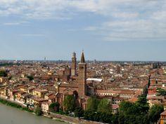 Stunning views of Verona, Italy from Castel San Pietro via BrowsingItaly