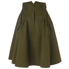 otis skirt ($80) ❤ liked on Polyvore featuring skirts, bottoms, saias, green, women, french connection, green skirt, zipper skirt, button skirt i brown pleated skirt