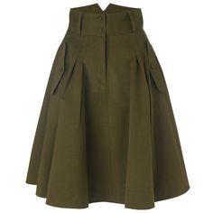 otis skirt ($80) ❤ liked on Polyvore featuring skirts, bottoms, saias, green, women, french connection, green skirt, zipper skirt, button skirt i brown pleated skirt