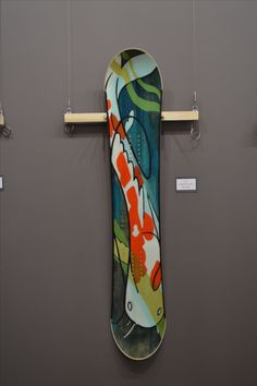 #Gilson snowboard custom painted by a local artist. The boards were painted on the bare wood then finished and so are fully functional.