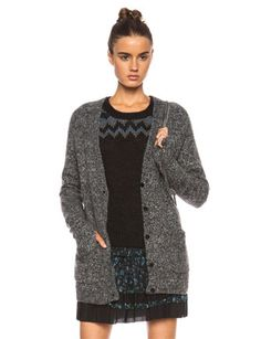 PAM & GELA Open Back Cable Knit Cardigan