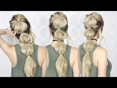 How to: Easy Bubble Ponytail | Summer hair tutorial - YouTube