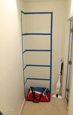 She put tape on the wall and solved a big storage issue!