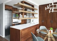 Maximize Space with Open Shelving Over the Kitchen Island