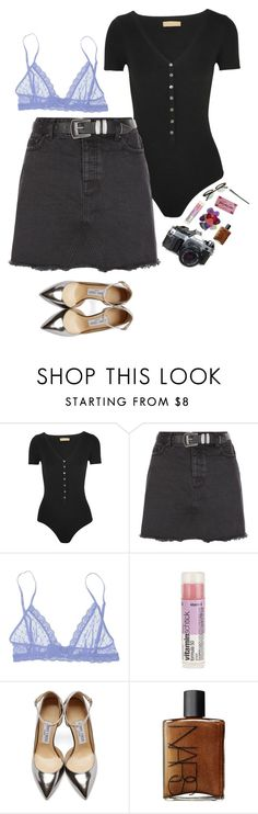 """""""Wanted"""" by laurennatasha3 ❤ liked on Polyvore featuring Michael Kors, New Look, Eberjey, American Eagle Outfitters, Jimmy Choo and NARS Cosmetics"""