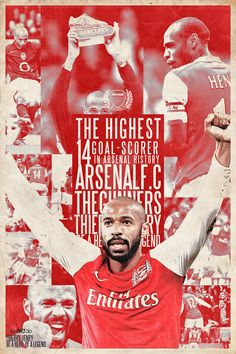 Thierry Henry Arsenal poster by Ricardo Mondragon Arsenal Fc, Arsenal Players, Arsenal Football, God Of Football, Football Soccer, Soccer Art, Arsenal Pictures, Thierry Henry Arsenal, Livescore Soccer