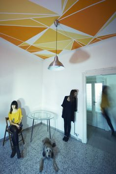 LAF geometric wall paintings by Lucia Andrea Forni | Basil Green Pencil