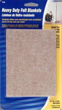 Waxman 4720095N Self-Stick Heavy Duty Felt Blanket Pads, 4-1/2-Inch by 6-Inch, Oatmeal by Waxman, http://www.amazon.com/dp/B0016L0M2I/ref=cm_sw_r_pi_dp_5nU1rb082FAEK