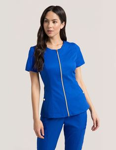 a97d708a530 product Stylish Scrubs, Lab Coats, Medical Scrubs, Blush Pink, Royal Blue,