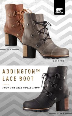 0e928adc00ec70 Make a statement this fall with the Sorel Addington. These 70s-inspired  heels were